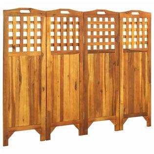Parawan 4-panelowy 161x2x120cm lite drewno akacjowe VidaXL