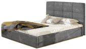 Łóżko tapicerowane z pojemnikiem na pościel 180X200 Korfu zdjęcie 1