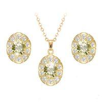 Komplet biżuterii ISABEL żółte kryształki