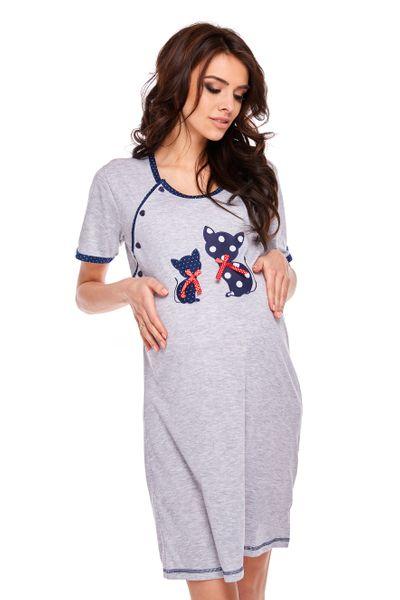 215e5ec1c021cf Koszula nocna ciążowa do karmienia kotki