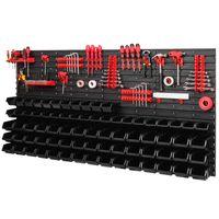 Tablica ścianka narzędziowa do garażu + 40 uchwytów, 75 kuwet, 2 półki PRO-MIX62c