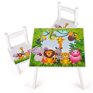 """Stolik z krzesełkami """"Zwierzęta w Dżungli"""""""