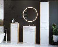 Meble łazienkowe SLIDO MINI Dąb artisan / Biały
