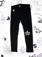 Rockowe czarne legginsy dziecięce Rock Star Mia Rock 116