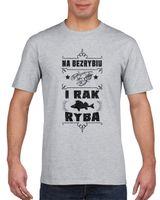 Koszulka męska DLA WEDKARZA I RAK RYBA s XXL