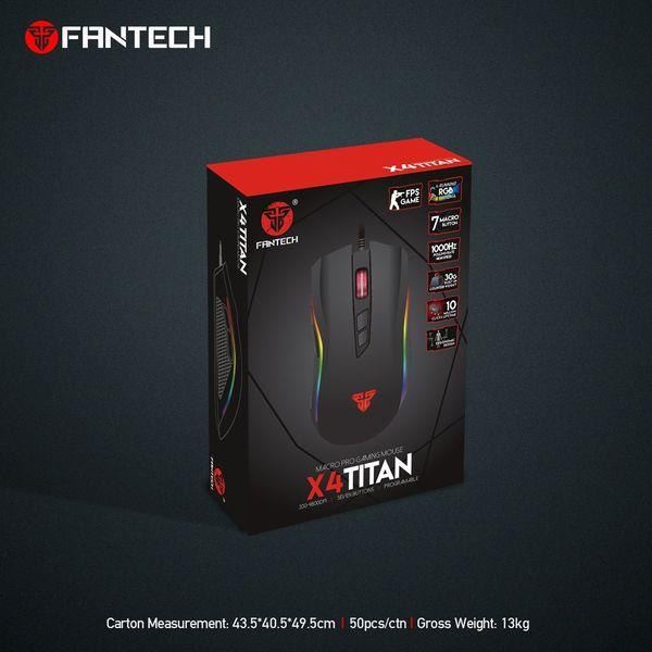 Mysz myszka dla gracza podświetlana 4800DPI Fantech X4 TITAN zdjęcie 7