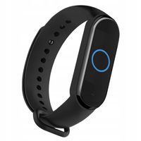 OPASKA SILIKONOWA DO XIAOMI MI BAND 5| BLACK