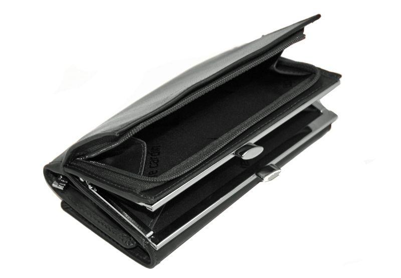 Czarna damska portmonetka Pierre Cardin, skóra naturalna zdjęcie 8