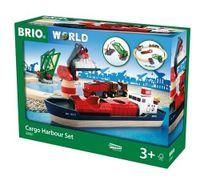 BRIO World Port Załadunkowy Kolejka drewniana