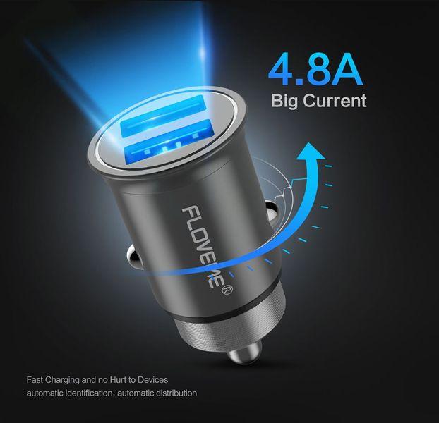 Ładowarka samochodowa 2x USB 4.8A Aluminiowa Floveme zdjęcie 8