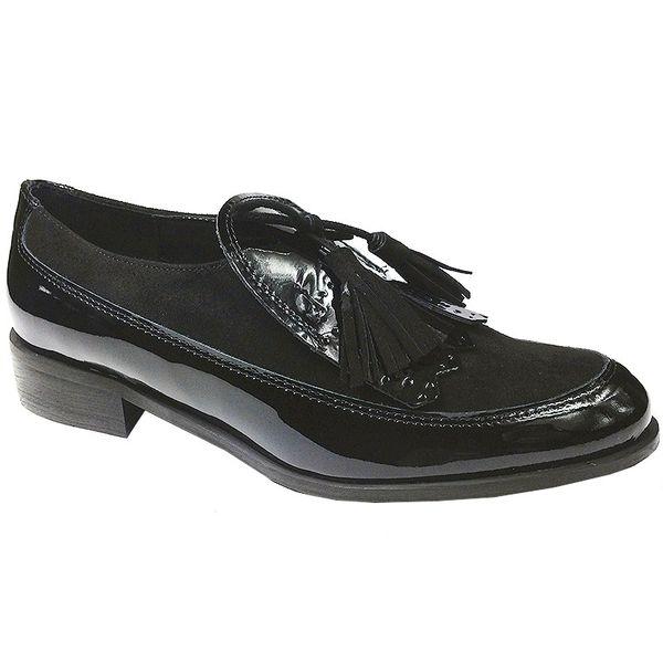 4c3dca67f559 Mokasyny Sagan 2892 czarny Rozmiar obuwia - 40