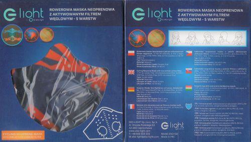 Maska Neoprenowa Antywirusowa Filtr FFP3/N99, Eko-Light na Arena.pl