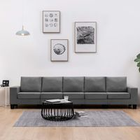 5-osobowa sofa, ciemnoszara, tapicerowana tkaniną