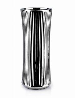 Wazon Ceramiczny 12X12X30.5Cm Yvonne Silver Mondex Htts6529
