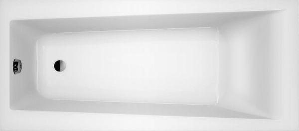 Wanna prostokątna polska 100% akryl lucite 75x160 + syfon nogi