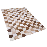 Dywan skórzany 160 x 230 cm brązowo-beżowy SOLMAZ