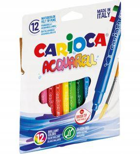 Pisaki Mazaki Flamastry Acquarel Carioca 12 kolor
