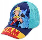 Czapka z daszkiem Strażak Sam Fireman 52 turkusowa