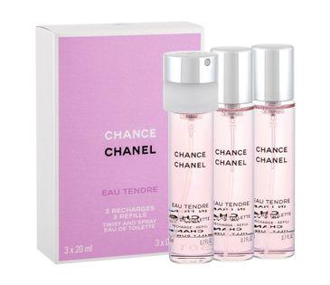Chanel Chance Eau Tendre 3x 20 ml Woda toaletowa 20ml