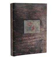 ALBUM, albumy na zdjęcia szyty 200 zdjęć 10x15 cm opis LEAF brązowy