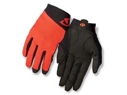 Rękawiczki męskie GIRO RIVET II długi palec vermillion black roz. XXL (obwód dłoni od 267 mm / dł. dłoni od 211 mm) (DWZ)
