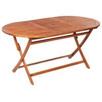 Składany stół ogrodowy, 160x85x75 cm, lite drewno akacjowe