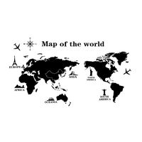 Naklejki na ścianę ścienne Mapa Świata WS-0246