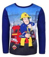 Bluzka Koszulka Strażak Sam Fireman 128 granatowa