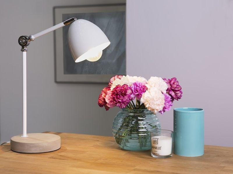 LAMPA STOŁOWA BIURKOWA BIAŁA zdjęcie 8