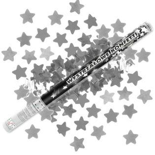 Tuba strzelająca, gwiazdki srebrne, 80 cm