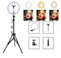 Lampa pierścieniowa LED 30CM 2m statyw selfi Wizaż