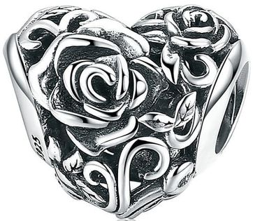 Charms Srebro – Serce Róża