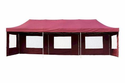 Namiot ogrodowy 3x9 m ekspresowy, bordowy pawilon handlowy