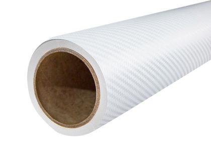 Folia Okleina Termoplastyczna Carbon Karbon 3D 151x50cm BIAŁY FC3