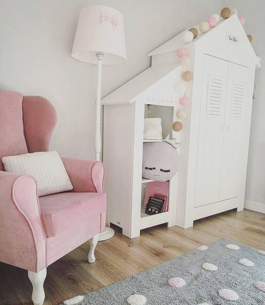 Fotel uszak różowy gładki zdjęcie 3