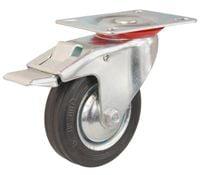 Koła kółka z hamulcem do wózka magazynowego  fi 125, 100 kg