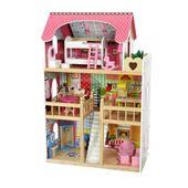 Domek dla lalek – drewniany: Rezydencja Malinowa