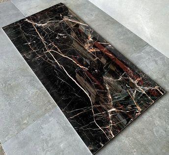 Czarny marmur złota żyłka gres 120x60 WYSOKIPOŁYSK