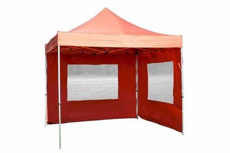Namiot ogrodowy 3x3 m ekspresowy Profi, pomarańczowy pawilon handlowy