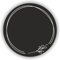 Arkusz PUSTE etykiety PRZYPRAWY zioła czarne okrągłe naklejki 35 szt