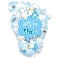 Balon foliowy Its a BOY na Baby Shower błękitny XL