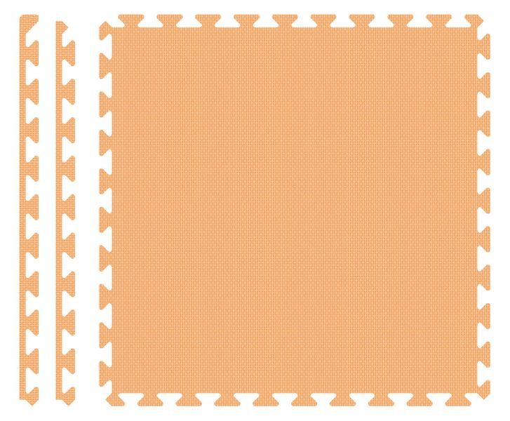 PUZZLE PIANKOWE MATA 4szt 62x62x1,1 cm Pomarańcz na Arena.pl