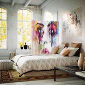 Parawan pokojowy, Twarz z plam farby 110x150 zdjęcie 2