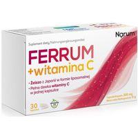 Narum Ferrum + Witamina C 300 mg 30 kapsułek