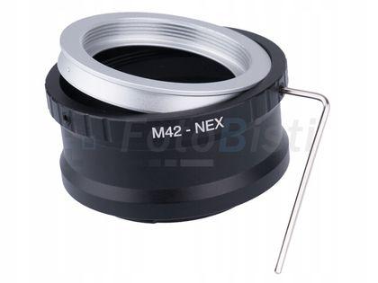 Adapter Sony NEX - M42 z blokadą bolca + klucz E