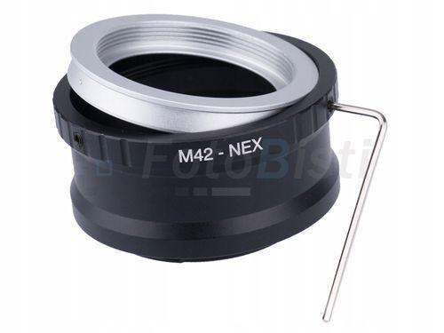 Adapter Sony NEX - M42 z blokadą bolca + klucz E na Arena.pl
