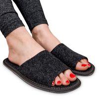 KAPCIE FILCOWE pantofle dla gości damskie lekkie