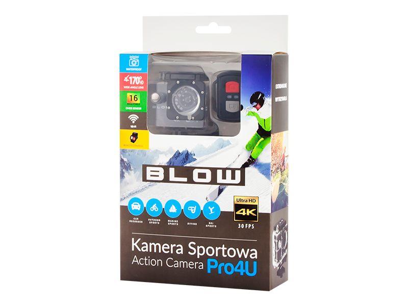 Kamera sportowa Blow Pro4U 4K Wi-Fi + wodoodporna obudowa + pilot zdjęcie 3