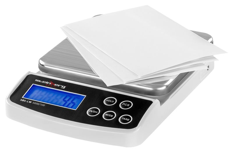 Waga pocztowa - 5 kg / 0,1 g - Steinberg Basic SBS-LW-5000/100 zdjęcie 3