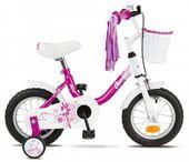 """Rower dziecięcy Alice 12"""" biało-różowy"""